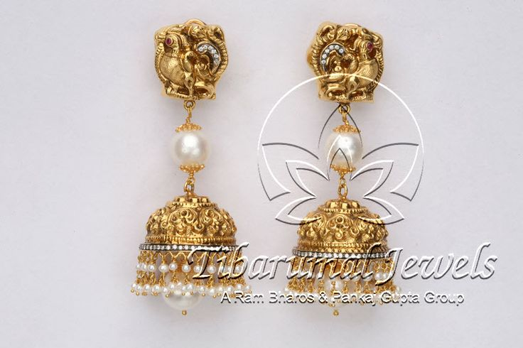 Nakshi Jhumka | Tibarumal Jewels | Jewellers of Gems, Pearls, Diamonds, and Precious Stones