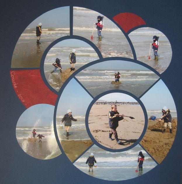 Great scrapbook layout for a fun day at the beach or anywhere. by queen