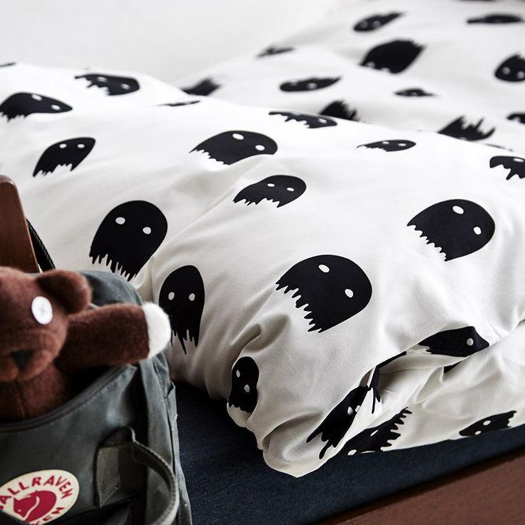 Monochrome Monster Bedding Cot Bed Duvet set by ONO Design