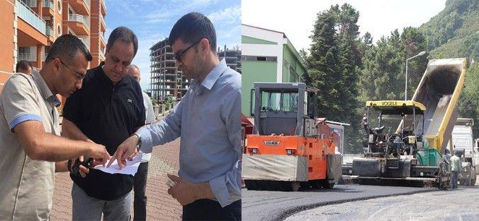 Gaziler Mahallesi Giresun Üniversitesi yerleşke yolunda asfalt yol yapımına başlandı.   Belediye Fen İşleri Müdürlüğü yol y
