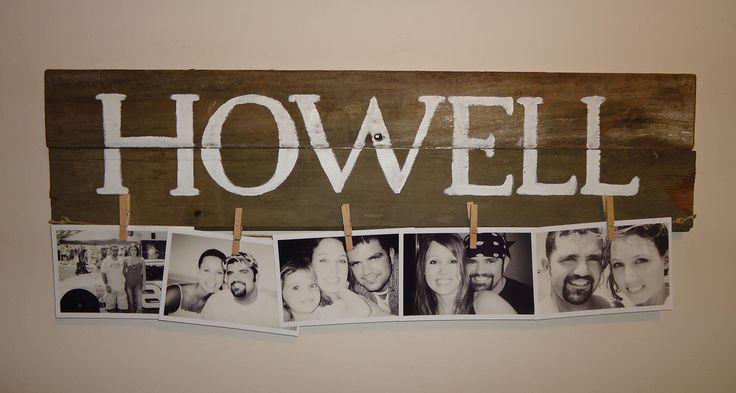 Sign made from old barn boards and hemp string...