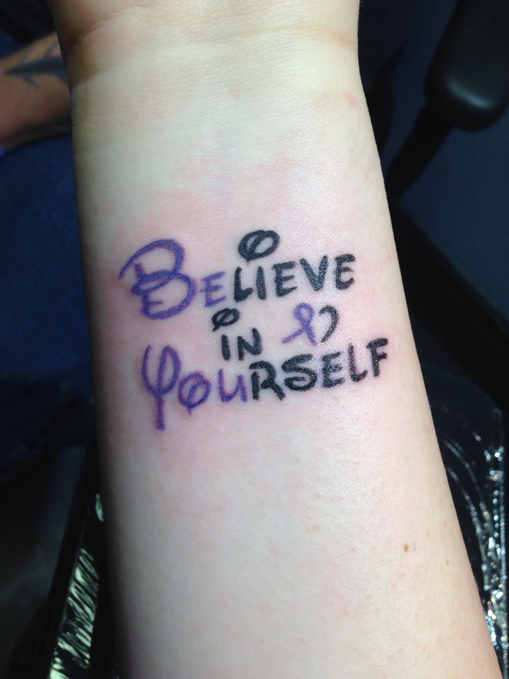 Disney font Believe in Yourself with hand drawn Relay ...