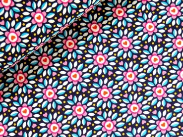 Jersey Fallflower dunkelblau