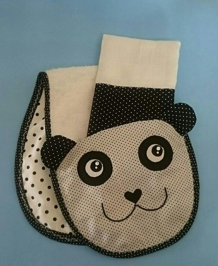 Babador de ombro panda 🐼.