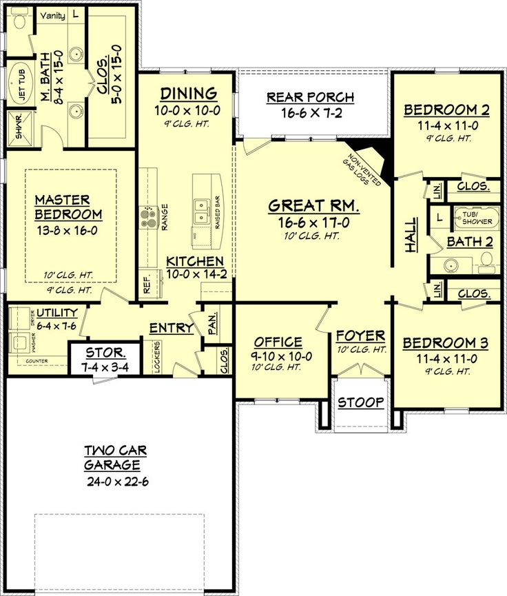 30 Creative Open Concept: This Charming 3 Bedroom And 2 Bath, Split House Plan Has