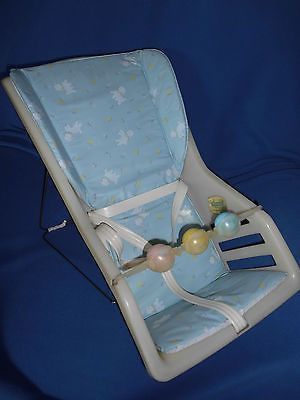baby chair carrier stationary desk vintage seat genuine infanseat nos unused for reborn doll display where to stay how get there toys childhood memories