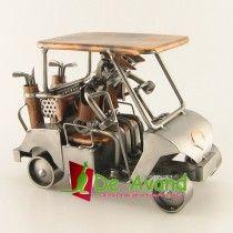 Golfkar metalen beeldje Metalen beeldjes