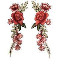 Rote Rose Aufnäher / Blumen Aufbügler Bügelbild Blume Applikation Flowers Patch