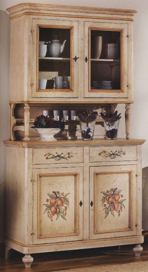 Příborník ZA1416/A + ZA1417/A   Malovaný nábytek z masivu - malovaný nábytek selský a lidový