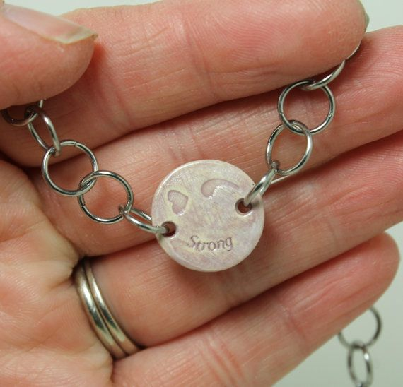 Semicolon bracelet Strong heart semicolon by GirlwithaFrogTattoo