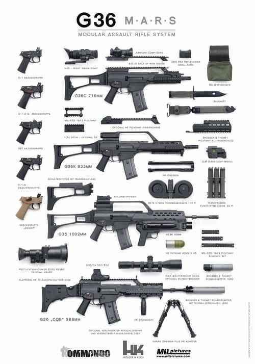 Heckler and Koch HK G36 Modular Rifle System. - www.Rgrips.com