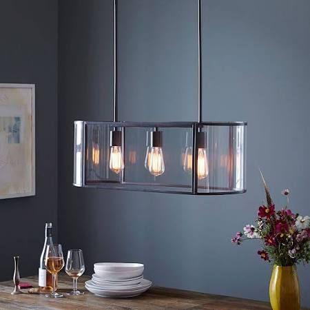 Glass Trough Pendant, Antique Bronze, West Elm - Light Fixtures - Chandeliers - Hanging Lights
