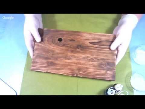 Вебинар.Наталья Блисс.Легкий способ цветной тонировки древесины..