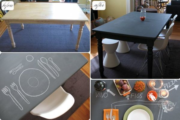 10 DIY Chalkboard Table Designs For A Fresh And Fun New Look