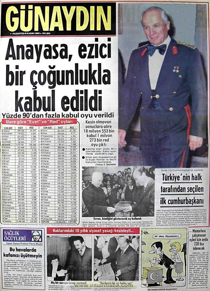 Güneş gazetesi 8 kasım 1982