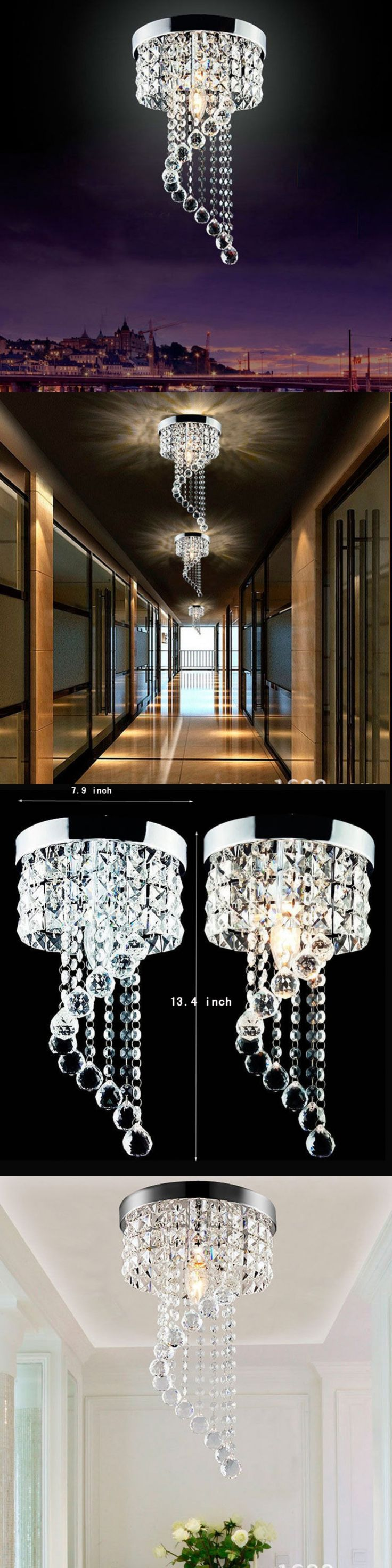 Lamps And Lighting: Modern Led Bulb Ceiling Light Pendant, Lighting Crystal Chandelier Decoration -> BUY IT NOW ONLY: $35.99 on eBay!