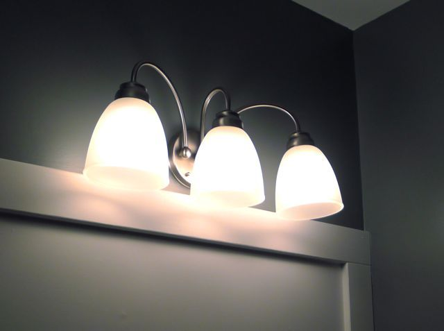 Vanity Lights Installation : 8 best images about Home Depot Bathroom Light Fixture on Pinterest Singapore, Home depot and Bays