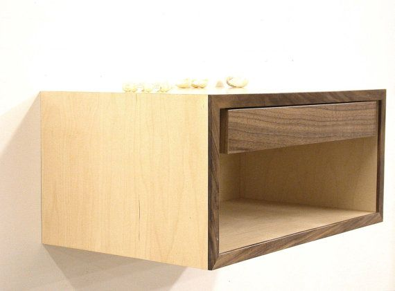 Floating Nightstand Wall Shelf Bedside Table por DLdesignworks