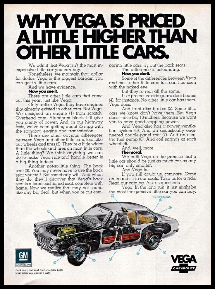 1971 GM #Chevrolet Vega Small #Car See Through #Diagram #1970s #Vintage Print #Ad