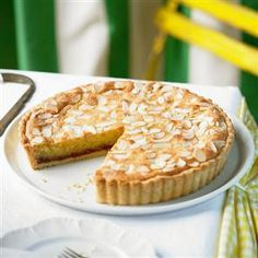The champion Bakewell tart~ ground almonds,grated zest of 1 lemon,4 tbsp strawberry jam,2 tbsp flaked almonds and that's just the beginning