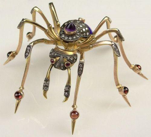 Antique spider brooch.
