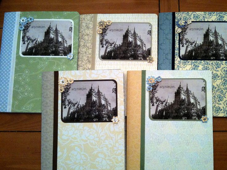 """Love """"homemade"""" journals! (cover inexpensive composition books)"""