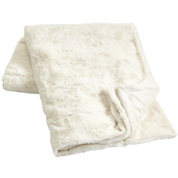 Pier 1 Imports Ivory Fuzzy Throw ($45) ❤ liked on Polyvore featuring home, bed & bath, bedding, blankets, fillers, bedroom, home decor, ivory, cream colored bedding and cream throw blanket