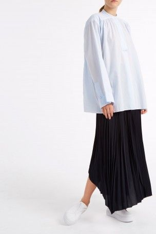 HELMUT LANG Pleated Maxi Skirt. #helmutlang #cloth #