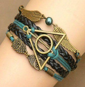 Infinity Vintage Harry Potter Bracelet Deathly Hallows Link Bracelets @ niftywarehouse.com