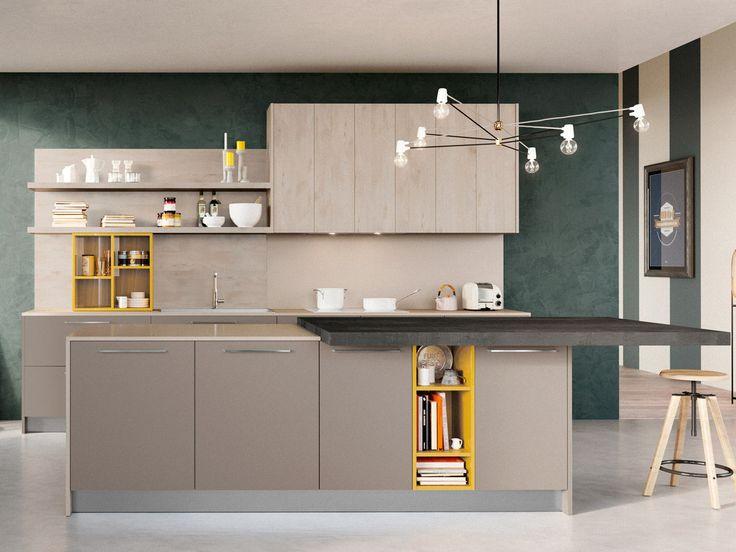 #Cucina con #isola moderna da #ArredissimA  ArredissimA Cucine  Pinterest ...