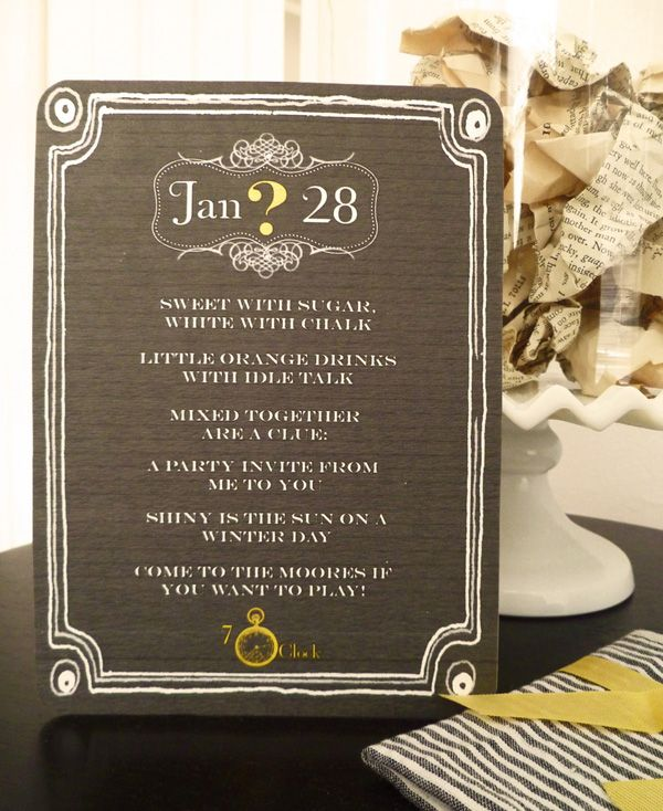 165 best images about Parties Clue Murder Mysteries – Clue Party Invitations