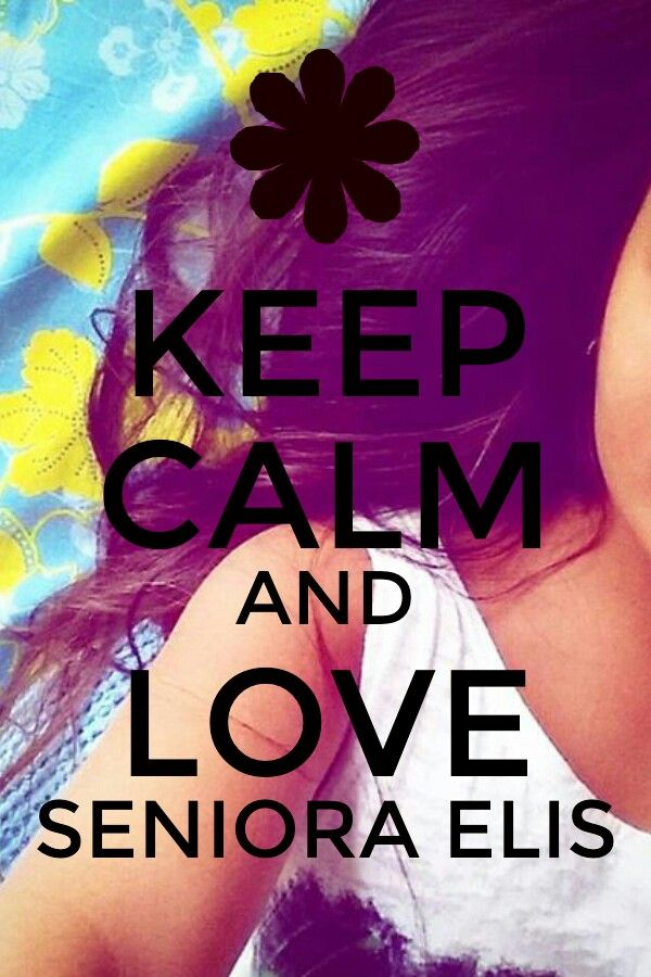 CEEP CALM AND LOVE SENIORA ELIS