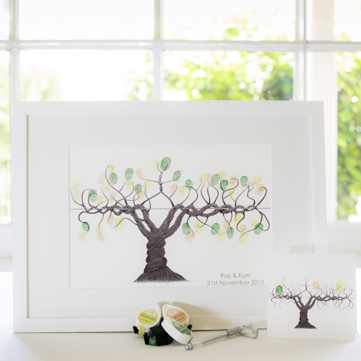 Winery vine B&W guest book for Wedding, funeral or other celebration. Illustrated by Ray Carter - The Fingerprint Tree® Made-to-order, ships worldwide. The Fingerprint Tree®, bespoke gifts you'll treasure!