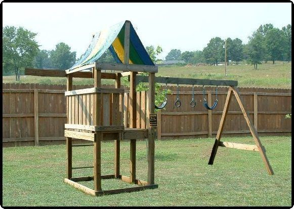 Learn how to build a fort deluxe swing set jungle gym for Swing set designs