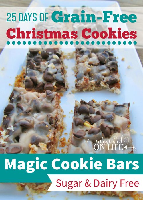 Yes! Grain-free and sugar-free magic cookie bars recipe! These will be the hit this years Christmas party.