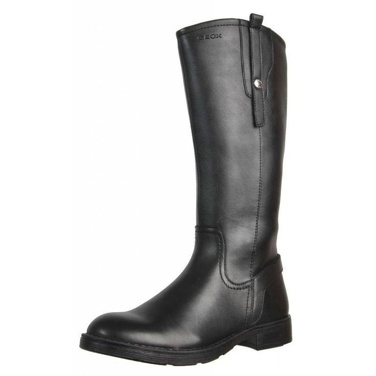 NEW Geox J Sofia K Girls Winter Riding Boots Leather Zip Heel Knee Sizes 31 - 39