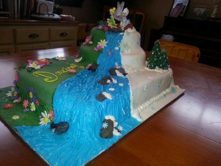 Tinkerbell secret of the wings cake#periwinkle#waterfall ...