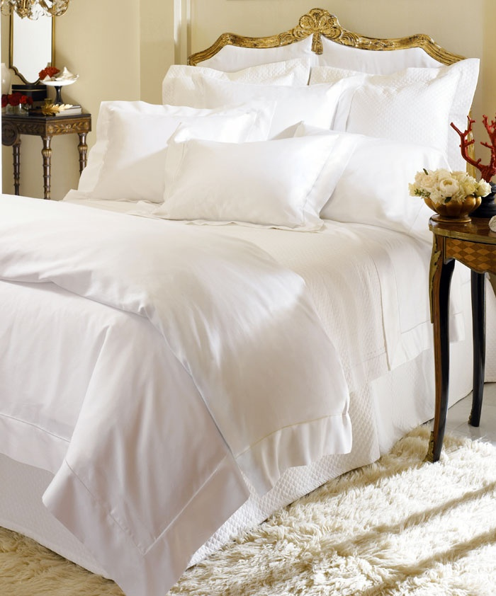 Luxurious...Dreamy!  1000 thread count sheets in Egyptian cotton by Sferra Bros - Laughlin Designs Fine Luxury Linens