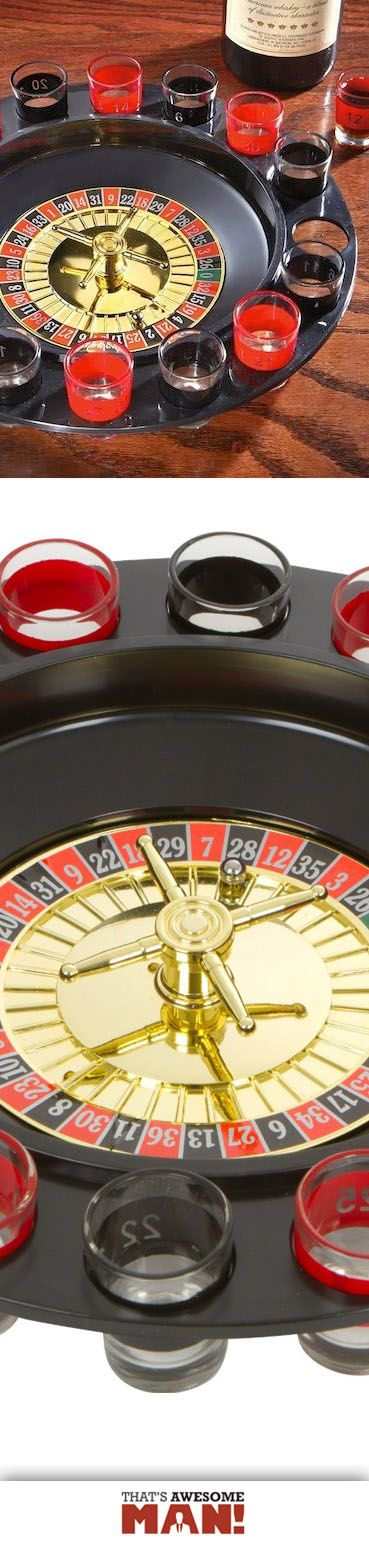 The EZ Drinker combines roulette with alcohol, so you have a new, fun way to get wasted! http://thatsawesomeman.com/shot-roulette/