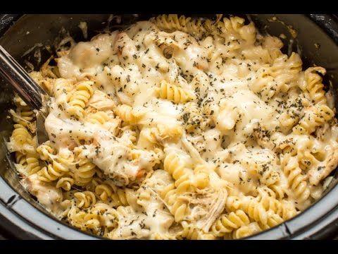 Langsamkocher Pesto Mozzarella Pasta