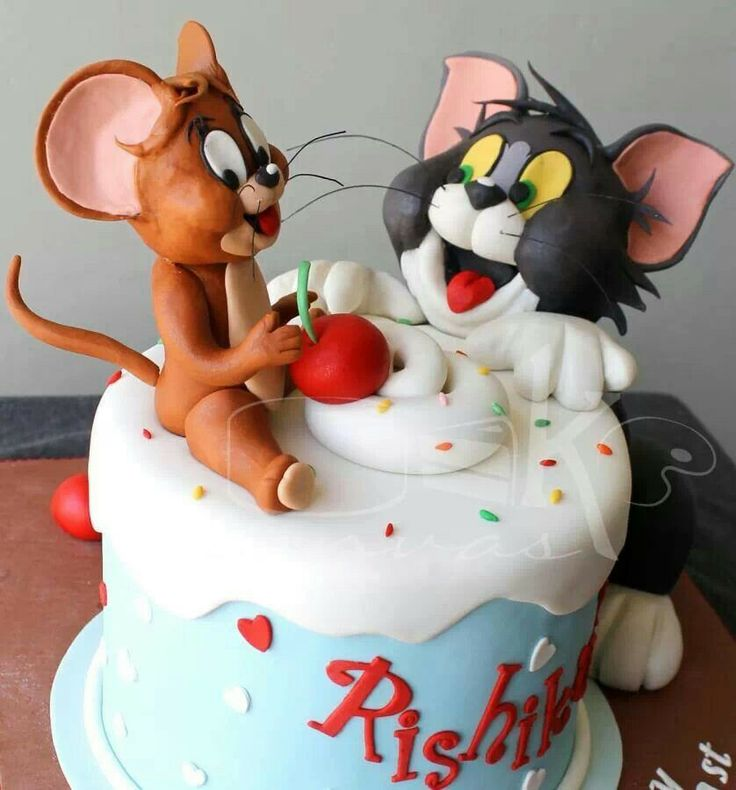 Tom And Jerry Birthday Cake Toppers
