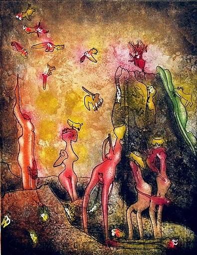 Nid de Noeds from the Portfolio: Requiem pour La Fin des Temps  Year: 1978/79 by Roberto Matta