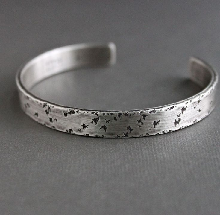 Elements Silver Tree Bark Pattern Heavy Cuff Bangle WGhotHBRw