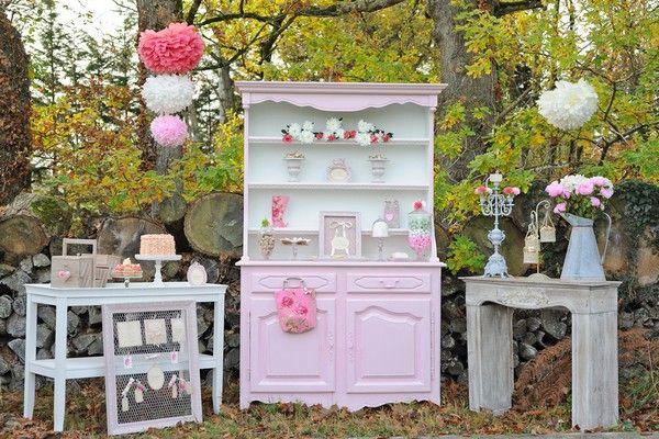 #wedding #candy bar #bar à bonbons #Romance Chic sweet table Laure Ferragi