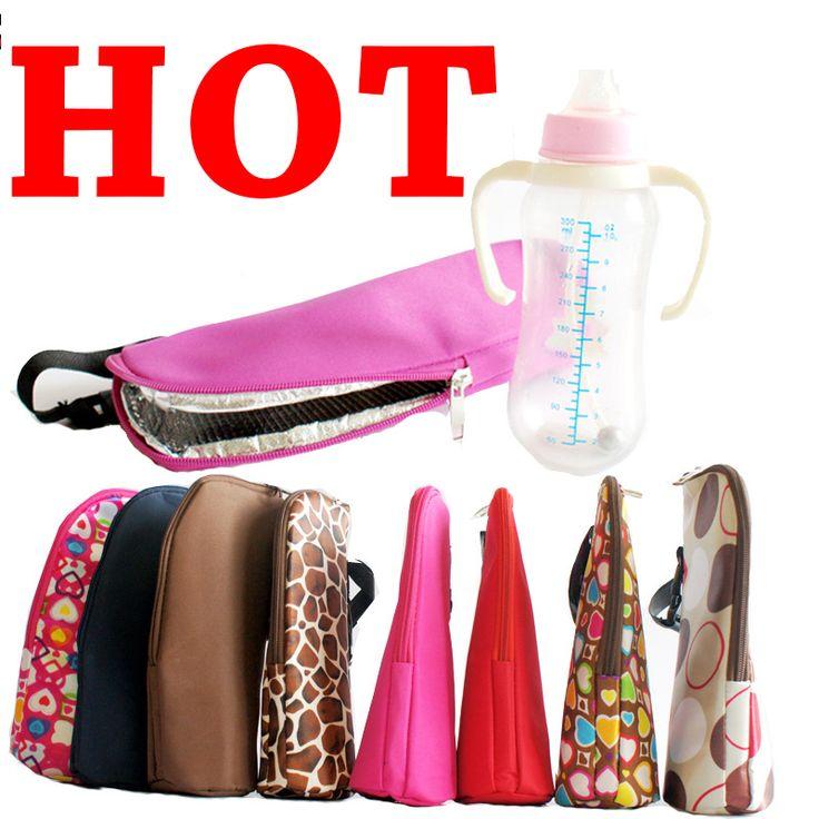 8 Color Baby Feeding Bottle Insulation Bag Thermal Bag for  Baby Bottle Holder Kids Storage Bag Stroller Hanging Bags Organizer
