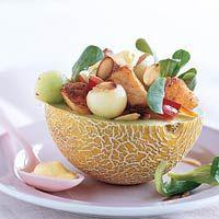 Recept - Maaltijdsalade met kip en meloen - Allerhande