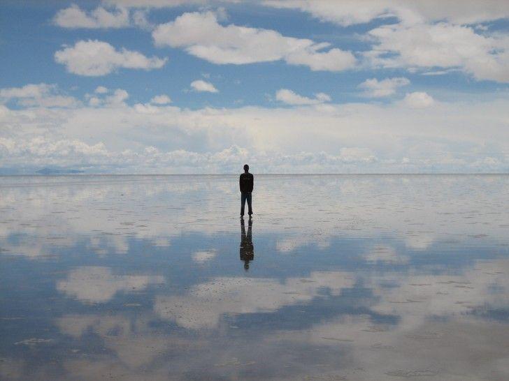 Salar de Uyuni, Bolivia  The world's largest salt flat. Looks like a huge mirror!