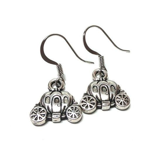 Cinderella's+Pumpkin+Carriage+Earrings+by+MidnightHouseElves,+$11.00