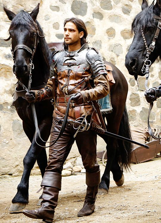 Luke Pasqualino in 'The Musketeers' (2014). x