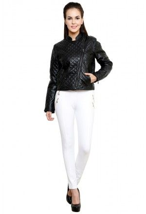 LEATHER JACKET WITH OVERALL QUILTING